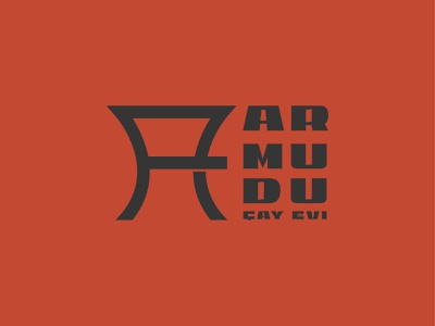 Armudu çay evi ( Balaxanı) branding typography poster icon logo design