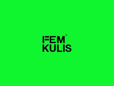 Femkulis (Women's rights) feminist feminine vector logo design typography