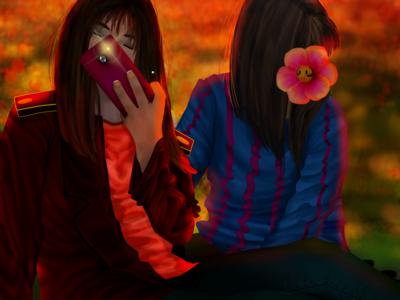 CrimsonFade Chara & Frisk