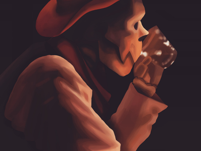 Cowboy Underfell Papyrus ( fanart ) alcohol aesthetics digital realism fanart underfellpapyrus papyrus undertale cowboy underfell