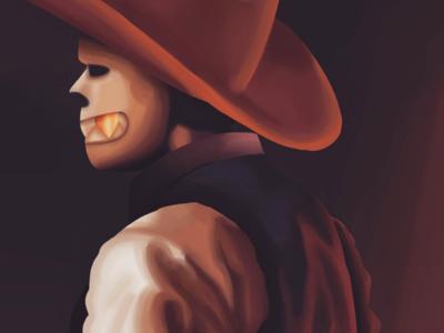 Cowboy Underfell Sans fanart