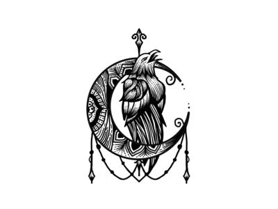T-Shirt design concept for eagle handdraw