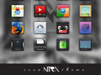 Nitrux - an icon theme for Linux. nitrux icon theme linux svg free