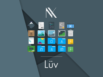 Lüv - An icon theme for freedesktop systems flat inkscape linux theme icon luv