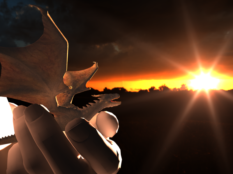 Dragon hdri game asset design 3d art unity3d octane