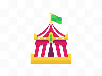 Carnival Tent illustration carnival