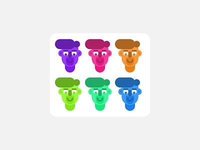 Faces #1 design characterdesign illustration