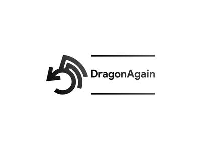 DragonAgain logo logo graphic design illustration