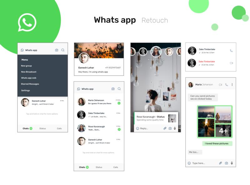 Whatsapp Redesign whatsappdesign iosapp android app appdesign redesign redesign concept whatsappredesign whatsapp