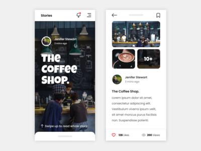 Stories storiesapp social socialappdesign lightmode mobile ios android appdesign uidesign