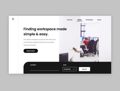 Workspace Finder Website workspacefinder website design social homepage webpagedesign webdesign ui design landingpage uidesign uiux figmadesign