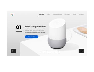 Google Home - Redesign ui appdesign homepage landing page google googlehome uidesigner uiux webpagedesign webdesign landingpagedesign landingpage uidesign