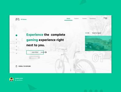 ES Games games design webpagedesign website social design landingpagedesign landingpage homepage uiux webdesign uidesign