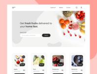 Fruiterer ecommerce app ecommerce fruiterier website design landingpagedesign webpagedesign social landingpage homepage uiux webdesign uidesign
