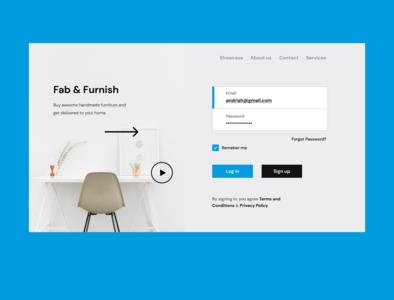 Sleek Sign in Screen landingpage homepage webdesign uidesign