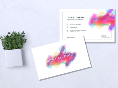 Business Card watercolor pattern presentation art vintage collection wedding layout set modern paint graphic illustration abstract background business design card vector template watercolor
