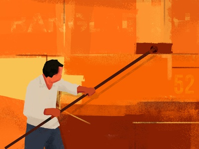 Shipyard Worker working boat shipyard coloring cleaning dockyard ship