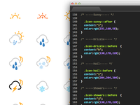 A Web-font to create multi-layered weather icons.
