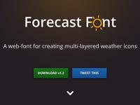 Forecast Font
