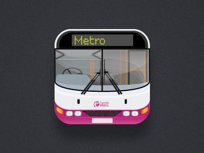 Metro translink transport bus icon iphone ios