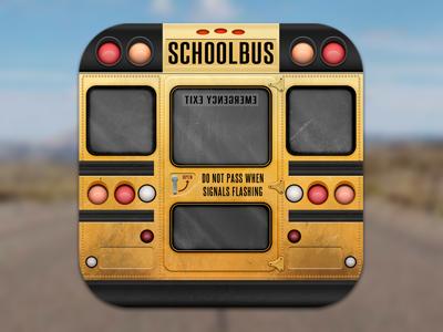 Schoolbus icon back school schoolbus ios icon bus transport