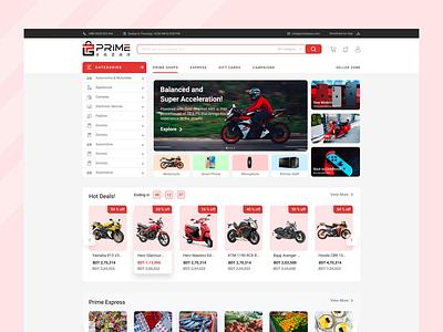 Prime Bazar - E Commerce Site home page slider home online shopping web ui e commerce ui