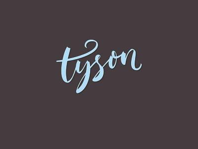 Tyson hand lettering brush vector script logotype logo lettering calligraphy