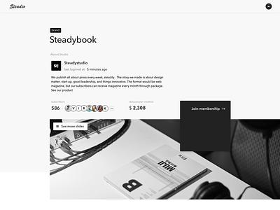 Membership platform design web service sketch app ux design