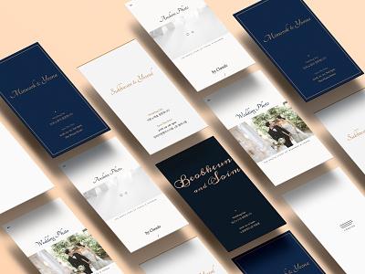 Mobile wedding invitation mobile app branding design illustration