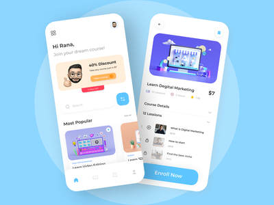 Online Learning App online teaching app teaching online live online live education app education online learning 2121 trendy ux product design mobile ui ui uiux mobile app interface interaction design
