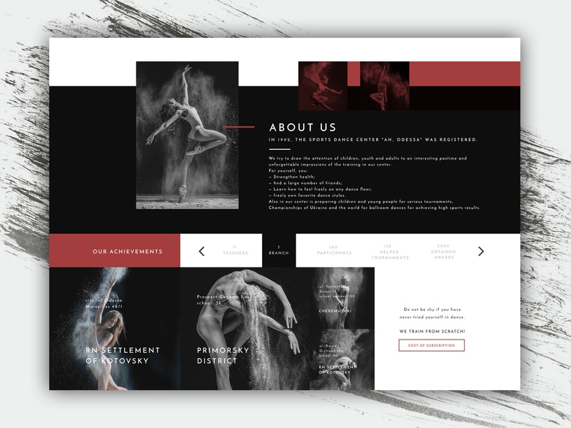 web page for dance studio by Marta on Dribbble