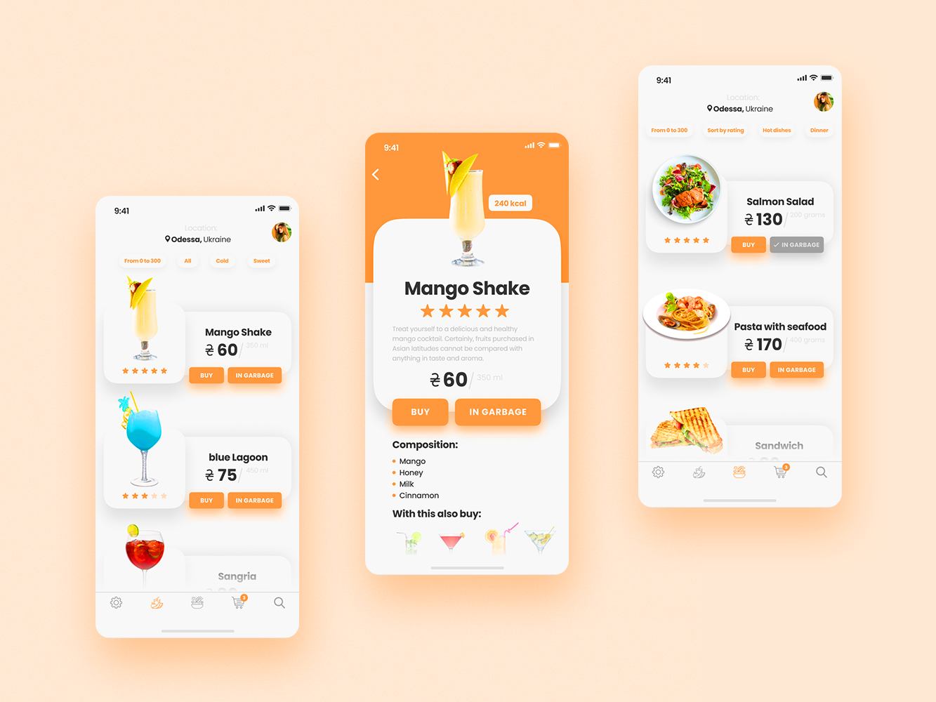 App delivery application food and drink food app food mobile ios app white icon type lettering branding website minimal web graphic ux ui  ux design ui  ux ui design