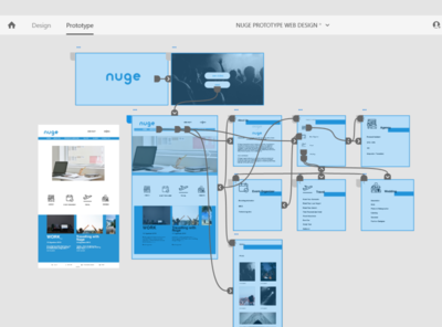Prototype UI Web Design Nuge Office Indonesia