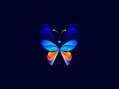 Butterfly vector flat branding icon logo