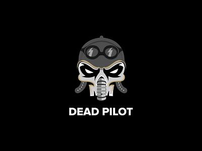 DEAD PILOT graphic design design vector flat icon branding logo