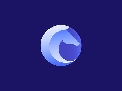 horse minimal design vector flat icon branding logo