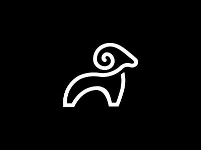 RAM minimal design flat vector branding icon logo