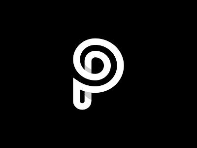 Letter P illustrator graphic design minimal design flat vector branding icon logo