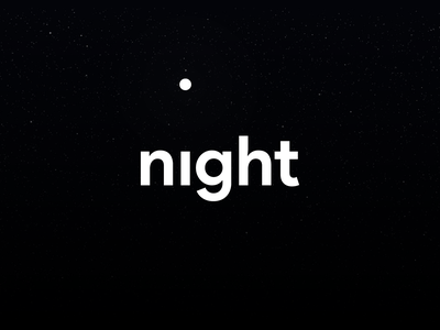 night minimal design vector flat icon branding logo