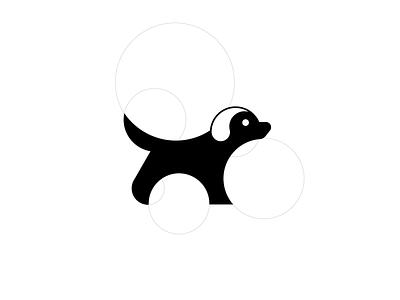 Dog graphic design minimal design vector flat branding icon logo
