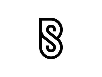 BS type typography graphic design minimal design vector flat icon branding logo