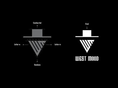 WEST MOOD typography illustrator graphic design minimal design vector flat icon branding logo