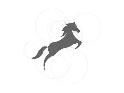 Horse design vector flat icon logo branding