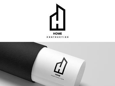 HOME LOGO minimal design flat vector icon logo branding