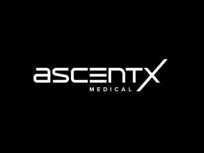 AscentX Medical Inc. / USA minimal typography vector design logo branding