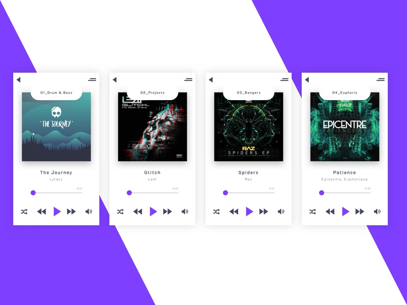 Music Application Concept concept music application app web ui ux design