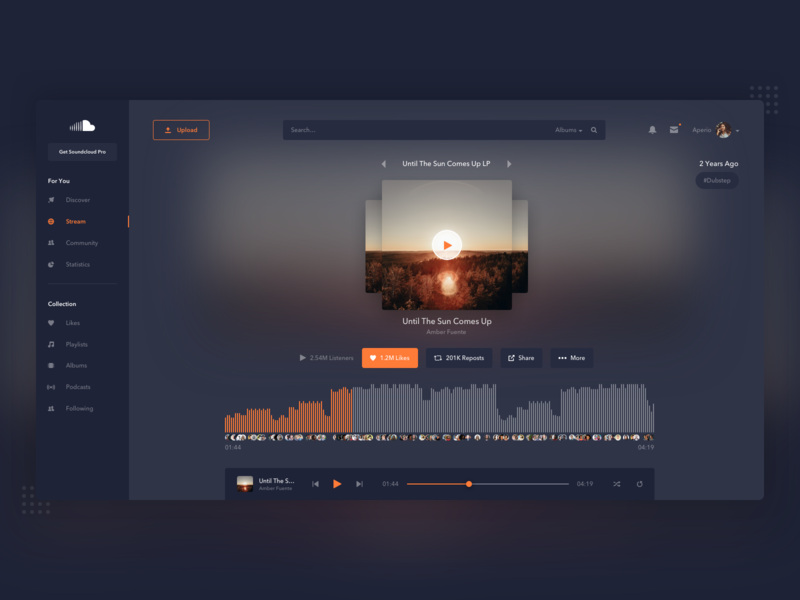 Soundcloud Redesign by Pim Scholten on Dribbble