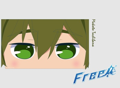 Makota Tachibana cavaei fata74 design vector illustration illustrator chibi free! anime anime free! tachibana makota