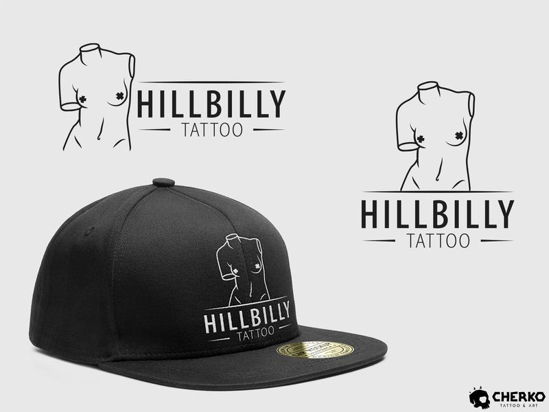 HILLBILLY - Tattoo parlor illustrator illustration art vector logo design tattoo logo