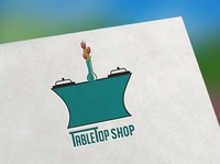 Logo 99 For Table Top Shop in Teal color